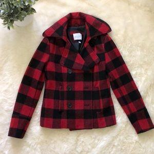 Buffalo Check Wool Blend Jacket Small